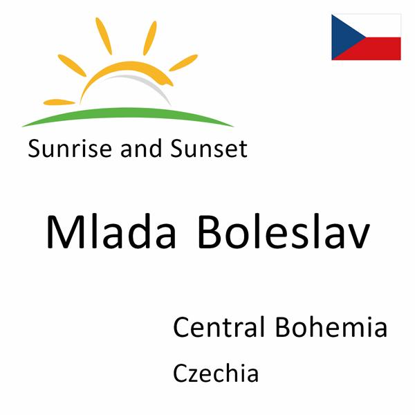 Sunrise and sunset times for Mlada Boleslav, Central Bohemia, Czechia