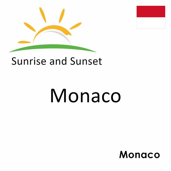Sunrise and sunset times for Monaco, Monaco