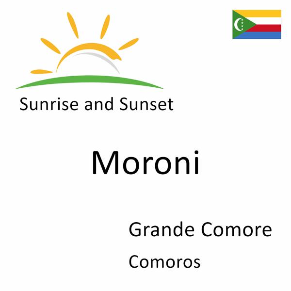 Sunrise and sunset times for Moroni, Grande Comore, Comoros