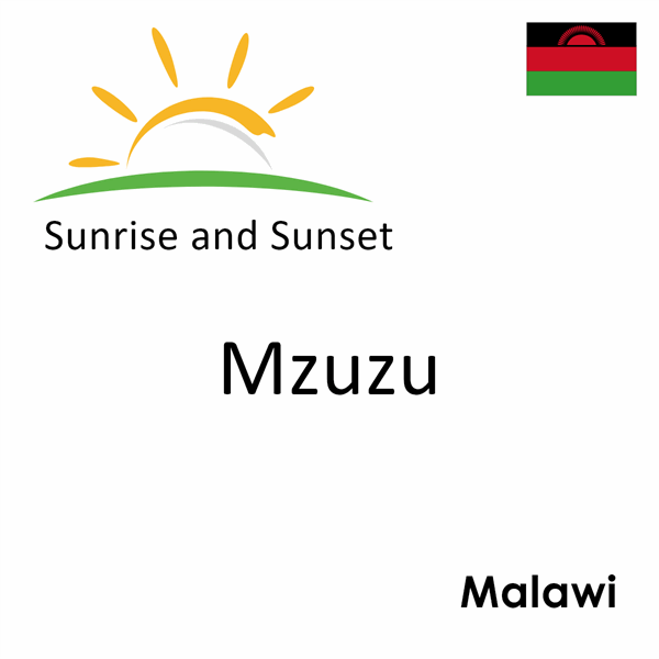Sunrise and sunset times for Mzuzu, Malawi