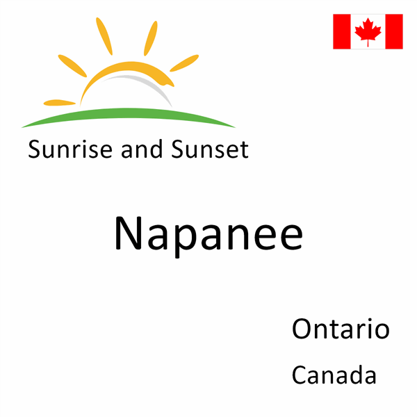 Sunrise and sunset times for Napanee, Ontario, Canada