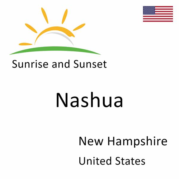 Sunrise and sunset times for Nashua, New Hampshire, United States