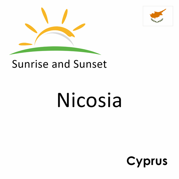 Sunrise and sunset times for Nicosia, Cyprus