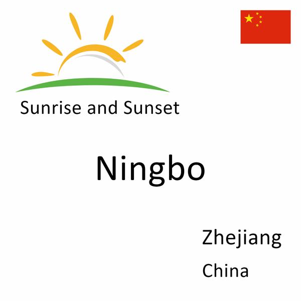 Sunrise and sunset times for Ningbo, Zhejiang, China