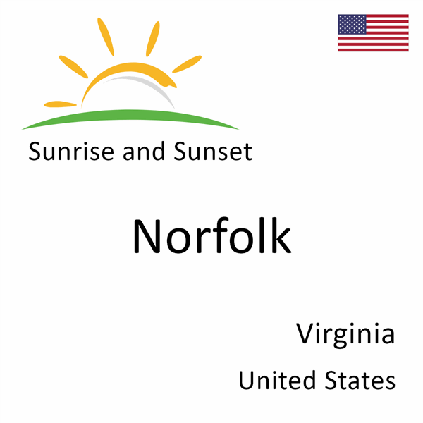 Sunrise and sunset times for Norfolk, Virginia, United States