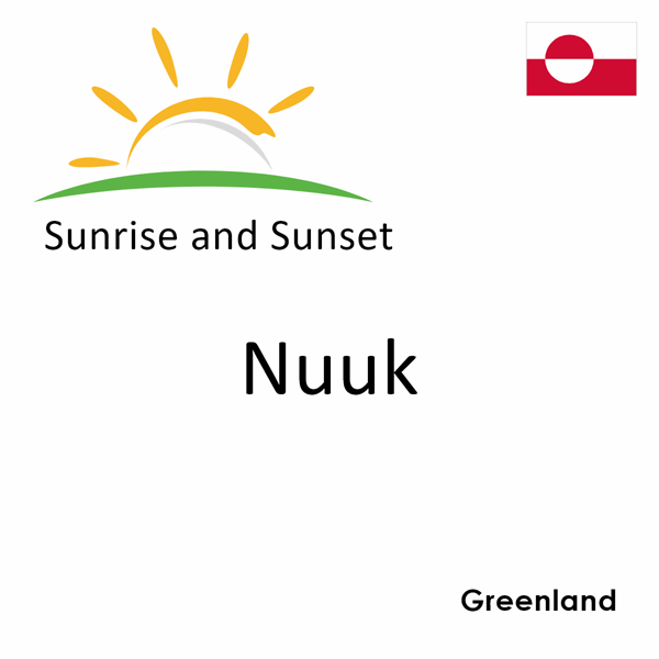 Sunrise and sunset times for Nuuk, Greenland