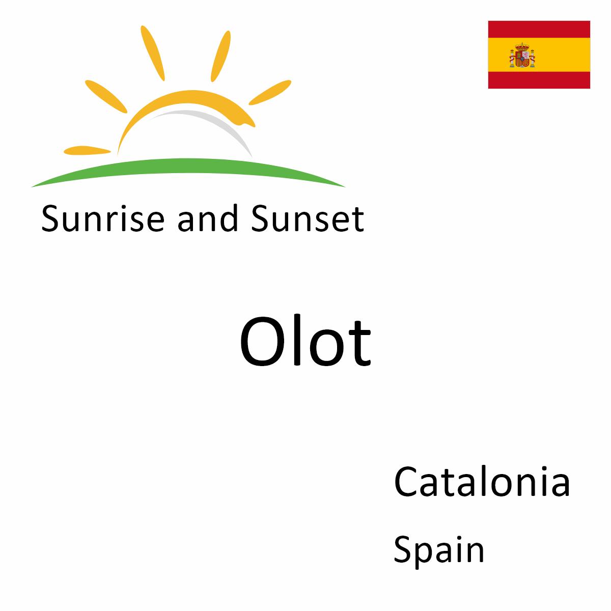 Sunset Calendar 2022.Sunrise And Sunset Times In Olot Catalonia Spain