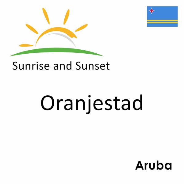 Sunrise and sunset times for Oranjestad, Aruba