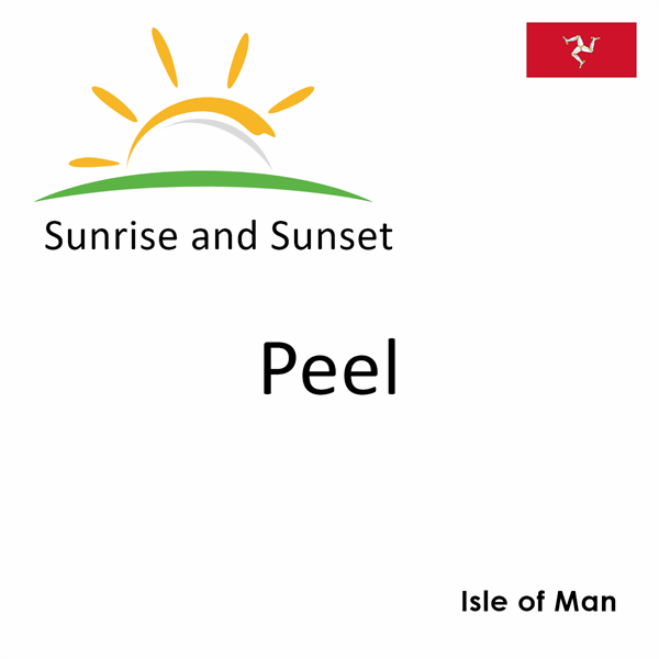 Sunrise and sunset times for Peel, Isle of Man