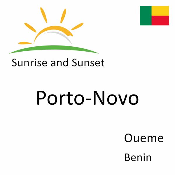 Sunrise and sunset times for Porto-Novo, Oueme, Benin