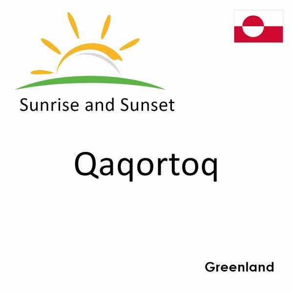Sunrise and sunset times for Qaqortoq, Greenland