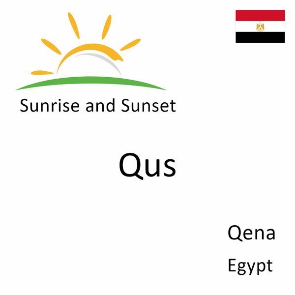 Sunrise and sunset times for Qus, Qena, Egypt