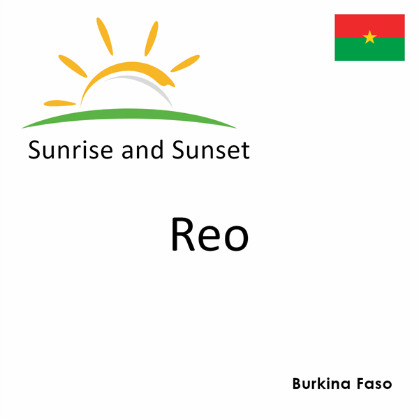 Sunrise and sunset times for Reo, Burkina Faso
