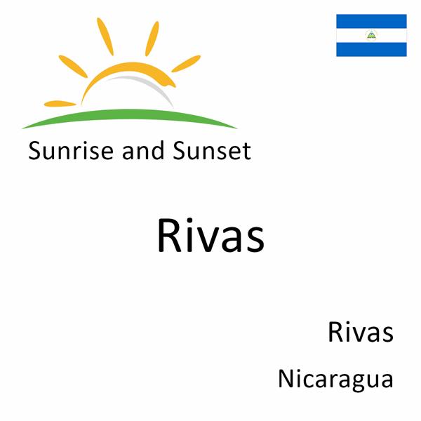 Sunrise and sunset times for Rivas, Rivas, Nicaragua