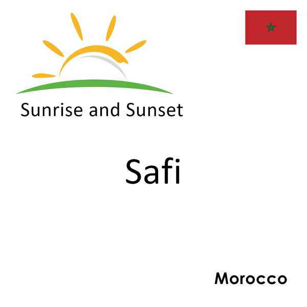 Sunrise and sunset times for Safi, Morocco