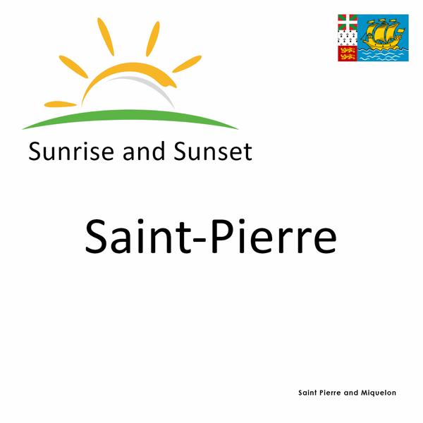 Sunrise and sunset times for Saint-Pierre, Saint Pierre and Miquelon