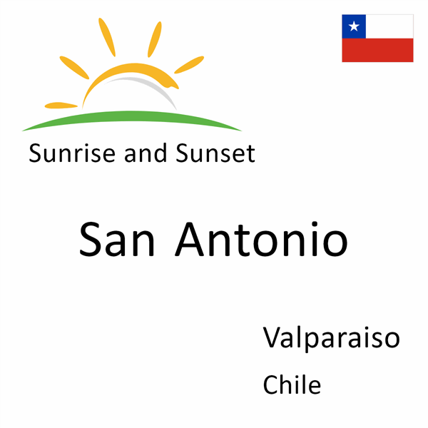 Sunrise and sunset times for San Antonio, Valparaiso, Chile