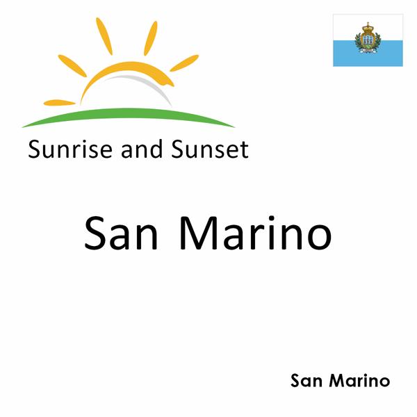 Sunrise and sunset times for San Marino, San Marino