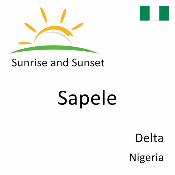 Sunrise and sunset times for Sapele, Delta, Nigeria