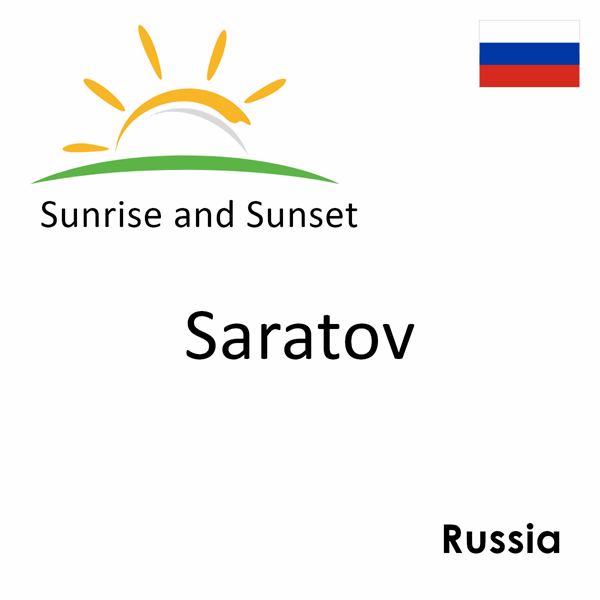Sunrise and sunset times for Saratov, Russia