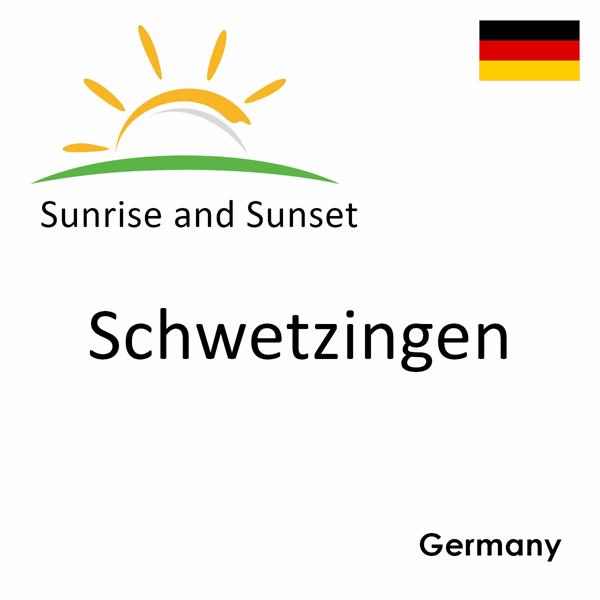 Sunrise and sunset times for Schwetzingen, Germany