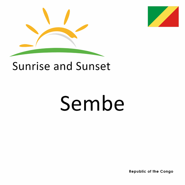 Sunrise and sunset times for Sembe, Republic of the Congo