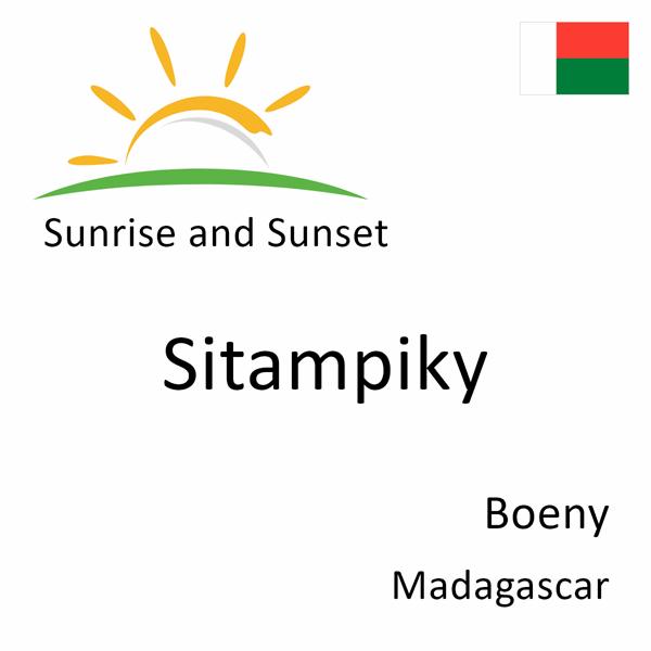 Sunrise and sunset times for Sitampiky, Boeny, Madagascar
