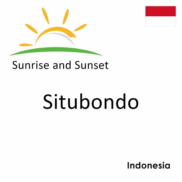Sunrise and sunset times for Situbondo, Indonesia