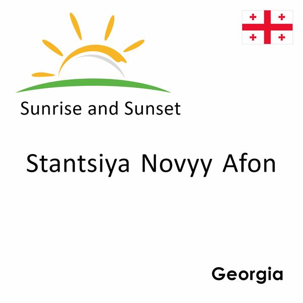 Sunrise and sunset times for Stantsiya Novyy Afon, Georgia