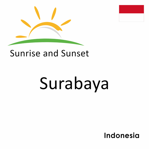 Sunrise and sunset times for Surabaya, Indonesia