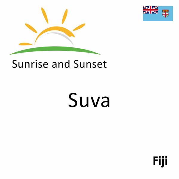 Sunrise and sunset times for Suva, Fiji