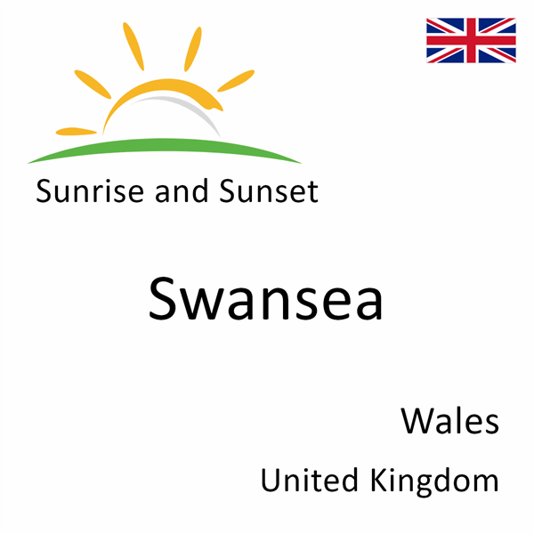 Sunrise and sunset times for Swansea, Wales, United Kingdom