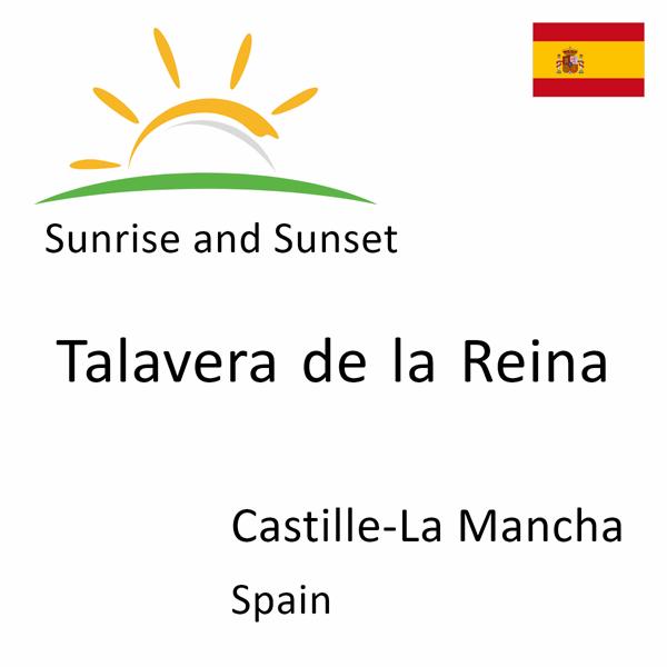 Sunrise and sunset times for Talavera de la Reina, Castille-La Mancha, Spain