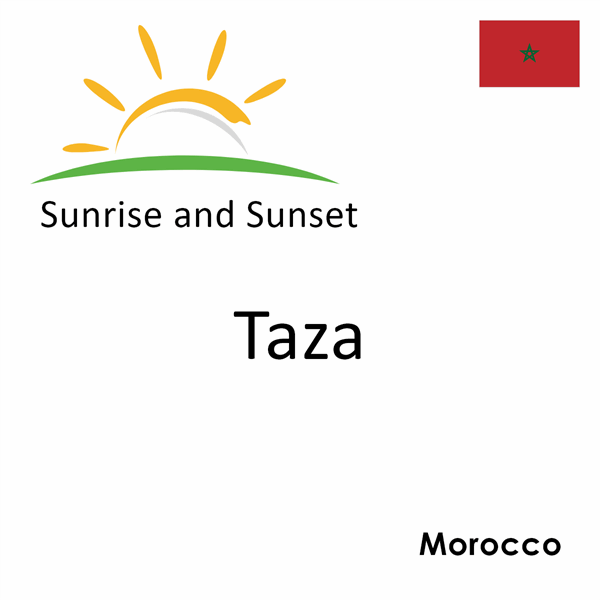 Sunrise and sunset times for Taza, Morocco