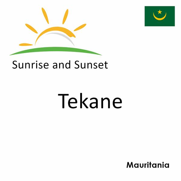Sunrise and sunset times for Tekane, Mauritania