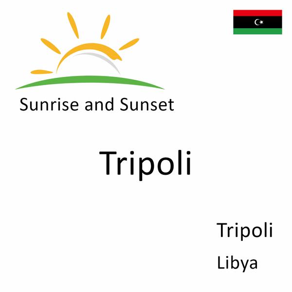 Sunrise and sunset times for Tripoli, Tripoli, Libya