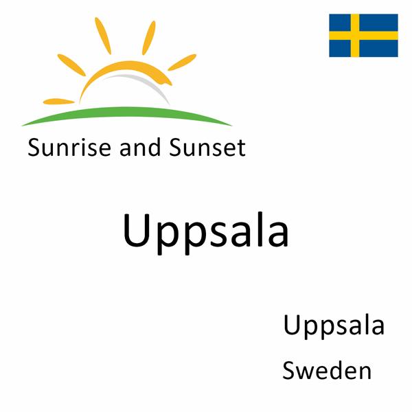 Sunrise and sunset times for Uppsala, Uppsala, Sweden