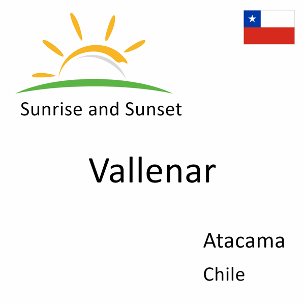 Sunrise and sunset times for Vallenar, Atacama, Chile