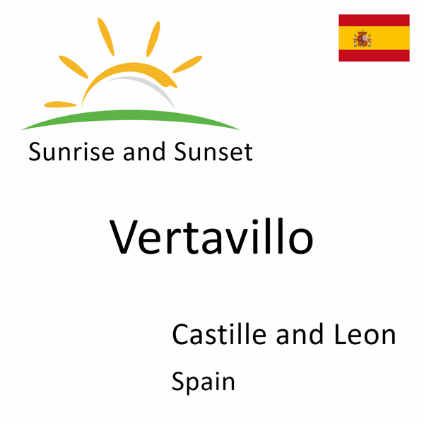 Sunrise and sunset times for Vertavillo, Castille and Leon, Spain