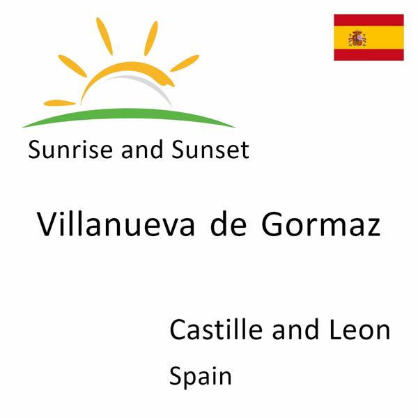 Sunrise and sunset times for Villanueva de Gormaz, Castille and Leon, Spain