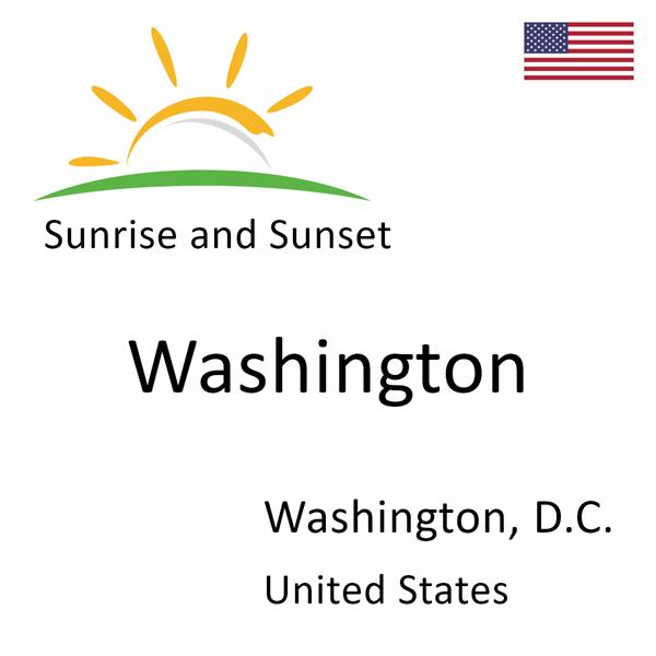Sunrise and sunset times for Washington, Washington, D.C., United States