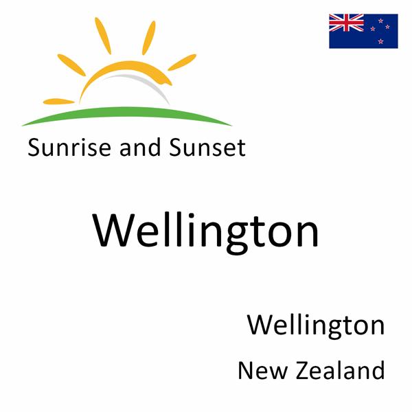 Sunrise and sunset times for Wellington, Wellington, New Zealand