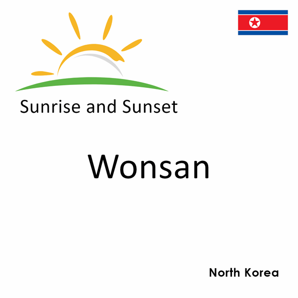 Sunrise and sunset times for Wonsan, North Korea