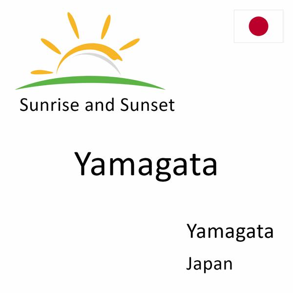 Sunrise and sunset times for Yamagata, Yamagata, Japan