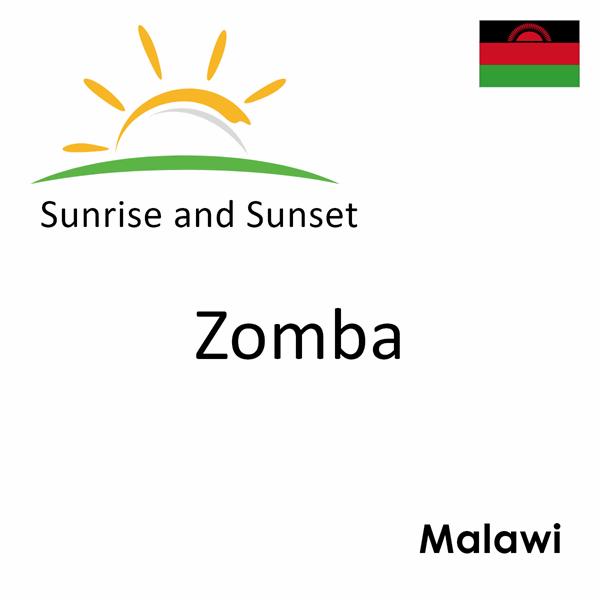 Sunrise and sunset times for Zomba, Malawi
